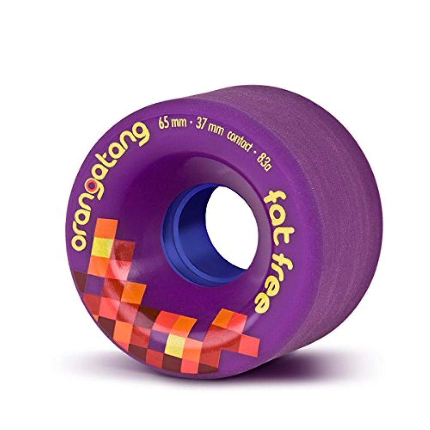 アジア取り囲む南アメリカOrangatang Fat Free 65 mm Freeride Longboard Skateboard Wheels ( Set of 4 )