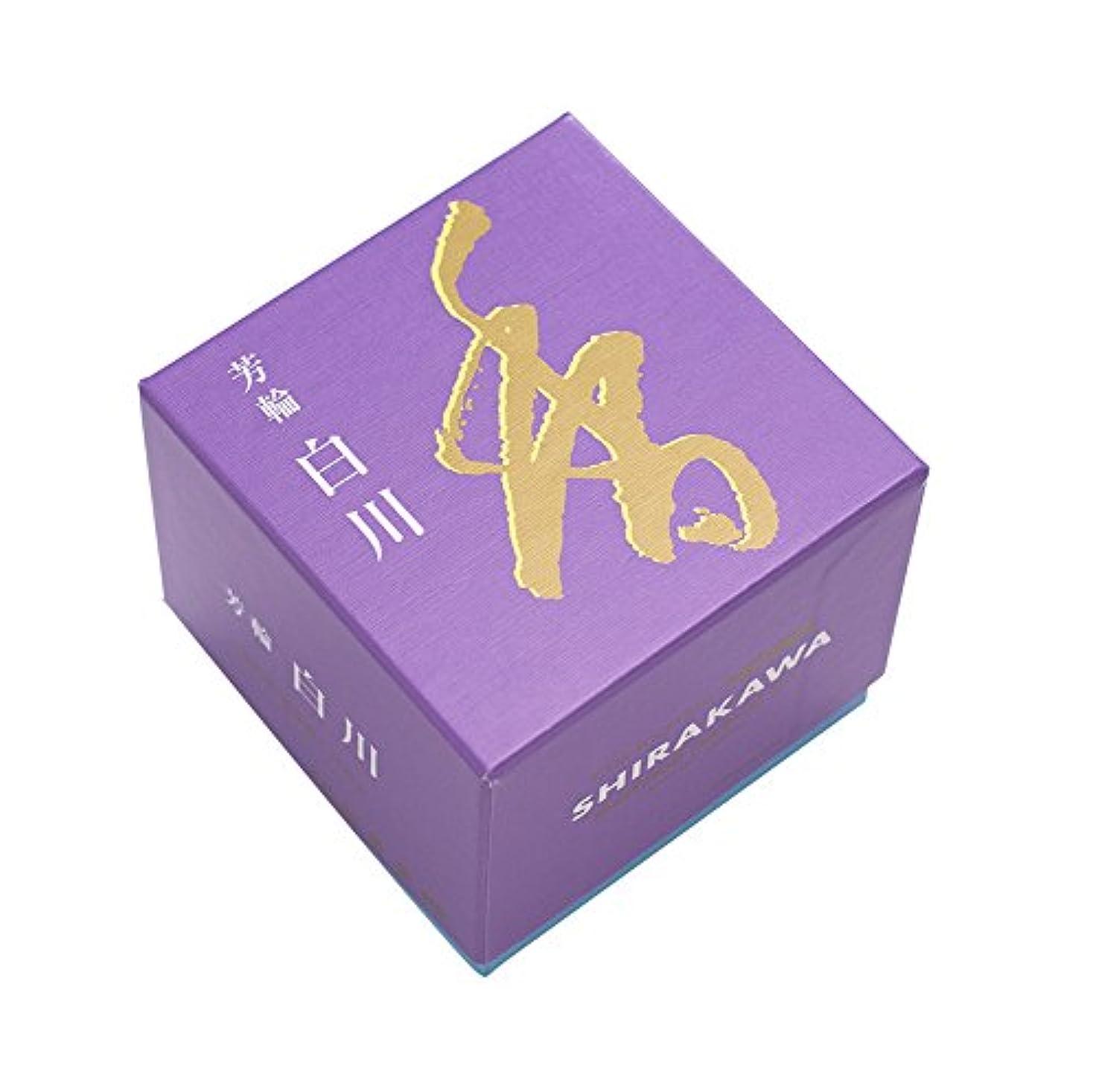 マーキーなる配る松栄堂のお香 芳輪白川 渦巻型10枚入 うてな角型付 #210621