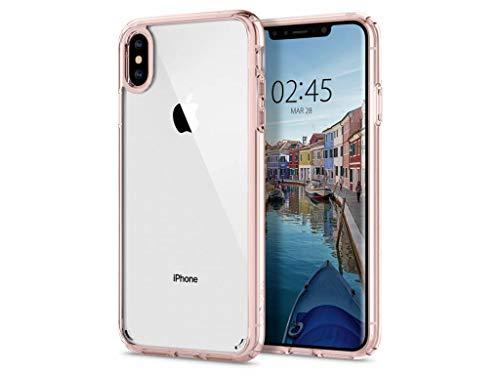 『【Spigen】 スマホケース iPhone XS Max ケース 6.5インチ 対応 全面クリア 耐衝撃 米軍MIL規格取得 ウルトラ・ハイブリッド 065CS25129 (ローズ・クリスタル)』の2枚目の画像
