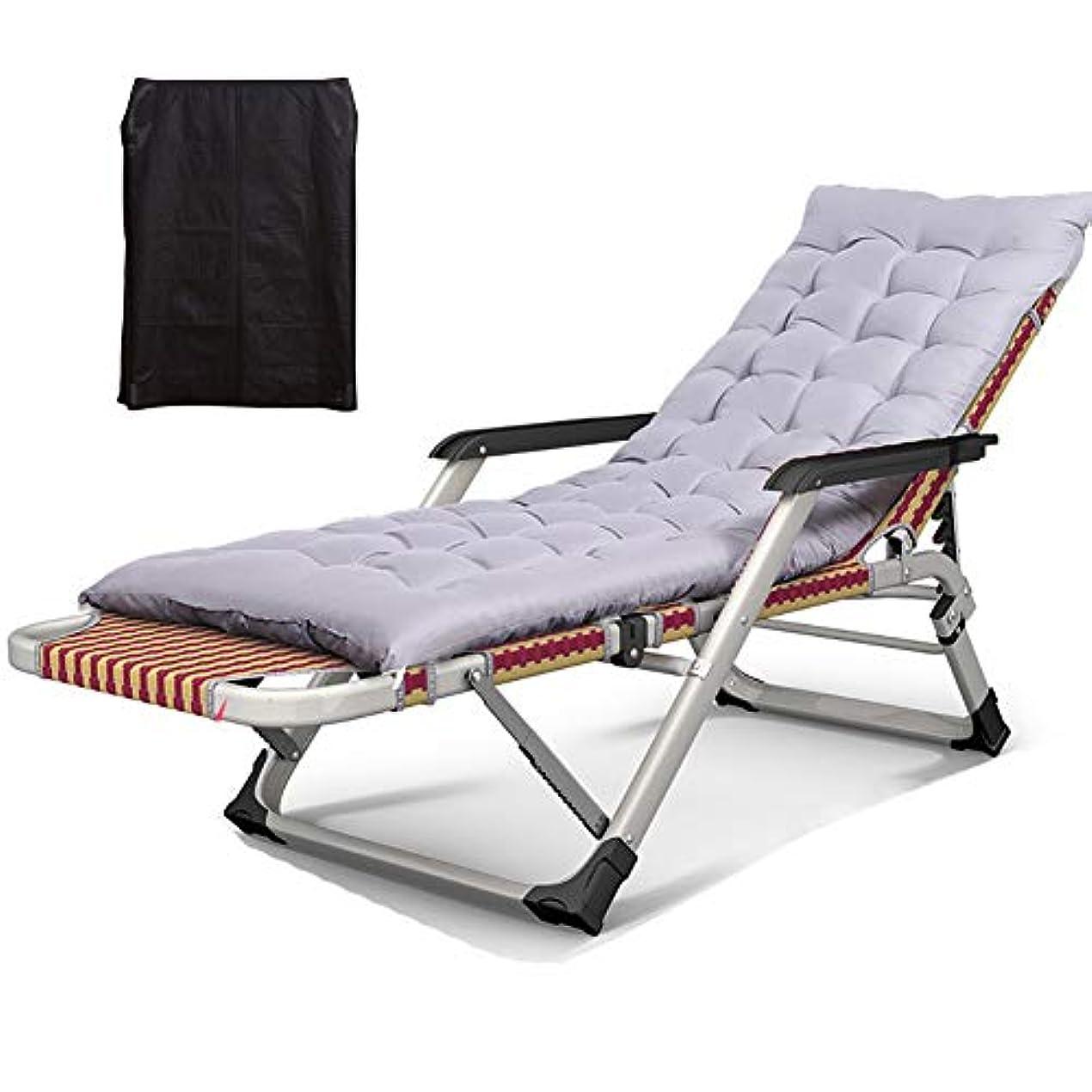ガーデンラウンジチェア長椅子、室内用屋外折りたたみ式エクストラストロングシングルベッド、400ポンドをサポート