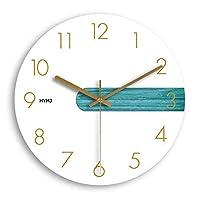 現代のアート時計壁時計リビングルームクリエイティブ北欧時計寝室現代のミニマリストガーデンホーム人格ミュートクォーツ時計12 /インチ