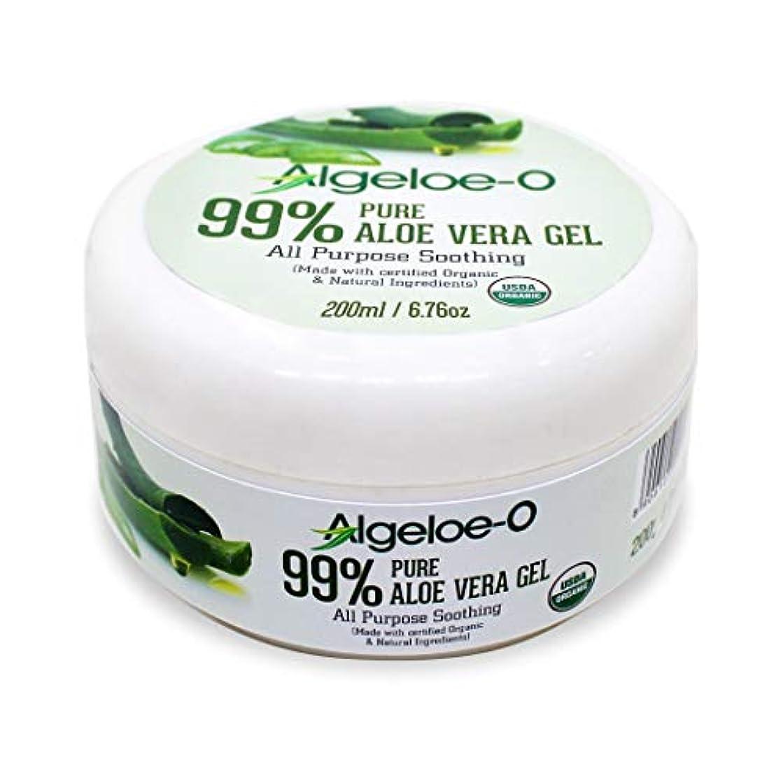 拍手する好ましいイタリックAlgeloe-O  Organic Aloe Vera Gel 99% Pure Natural made with USDA Certified Aloe Vera Powder Paraben, sulfate free...