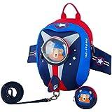 JiePai Toddler Kids Backpack with Safety Harness Leash,Waterproof 3D Cartoon Boys/Girls Backpack Lightweight Cute Animal Backpack for Travel/Nursery/Kindergarten/Preschool
