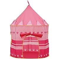 ポータブル城for Kids折りたたみ式インドア&アウトドア幼児子供Cubby再生テントボーイズ、ガールズ