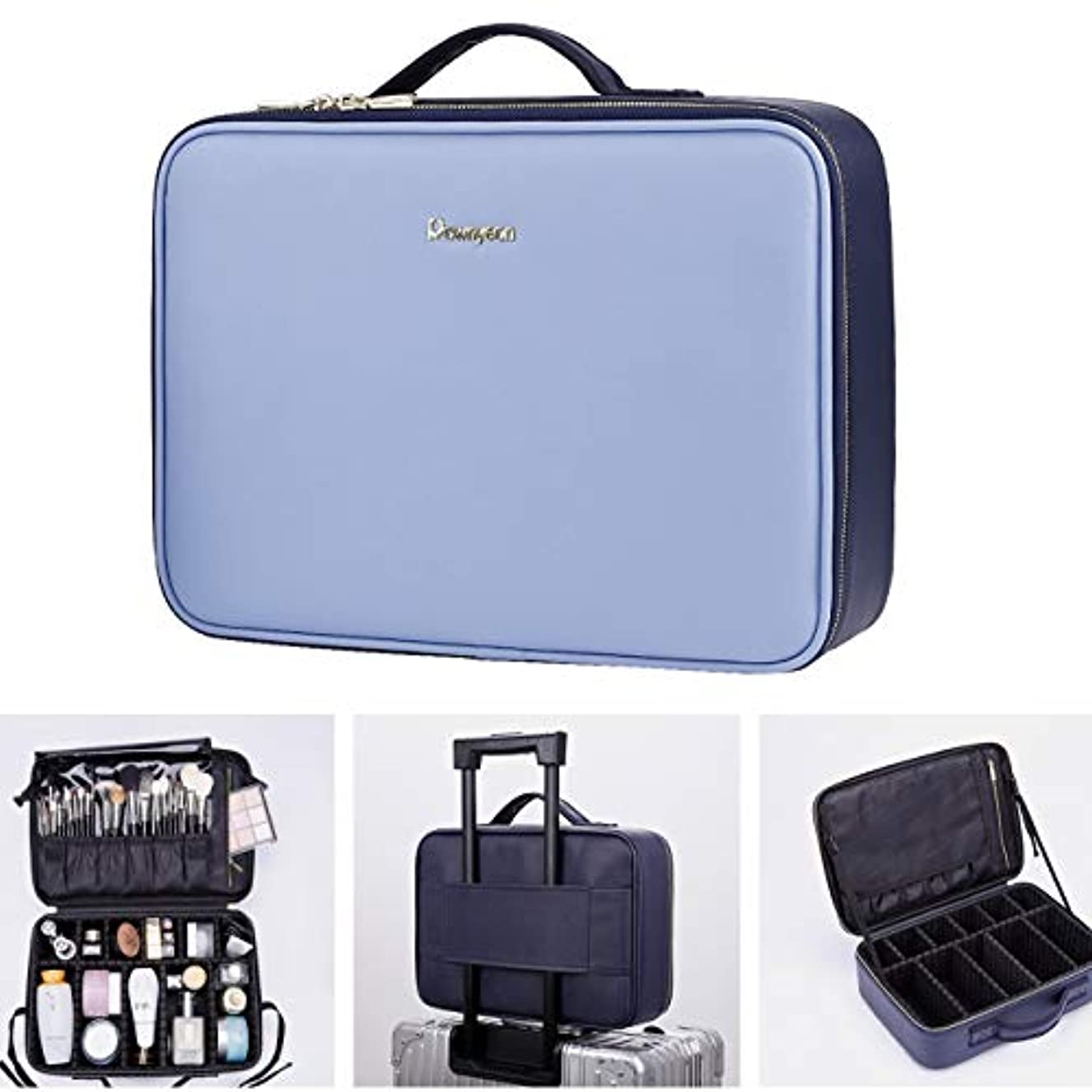 生息地清めるベストRownyeon 朗顔 メイクボックス 大容量 機能的 上質 化粧箱 コスメボックス 化粧ボックス 旅行用 プロ用 コスメスーツケース トラベル