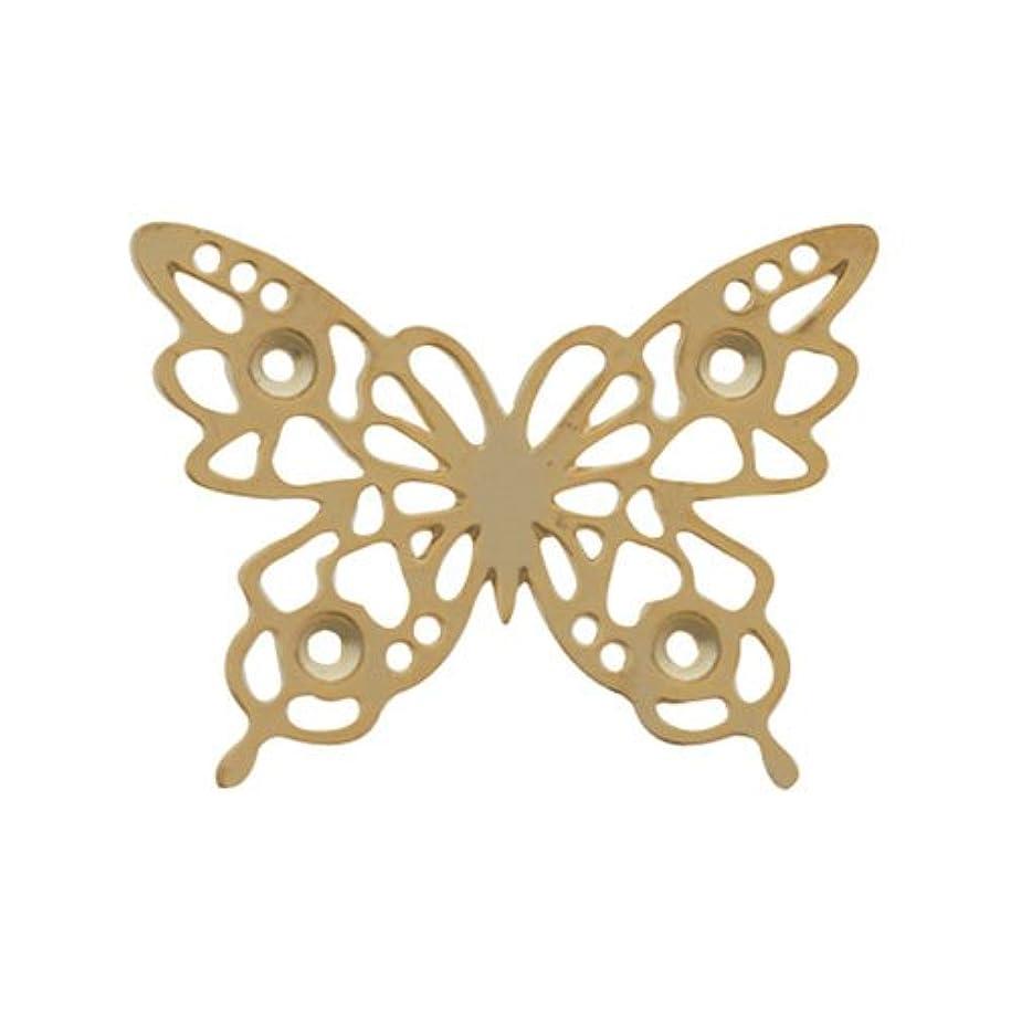 エミュレーション閉じる二層リトルプリティー ネイルアートパーツ チョウレースM ゴールド 10個