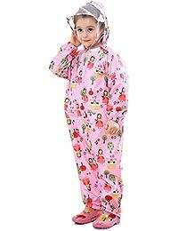 Bwiv レインコート 子供 女の子 キッズ レインスーツ 男の子 フード付き レインウェア 上下 シャム アウトドア 雨具 赤ちゃん カッパ 可愛い キャンプ 通園 通学 全3カラー、3サイズ