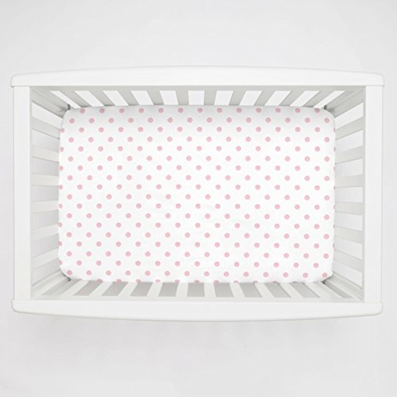 Carousel Designs White and Pink Polka Dot Mini Crib Sheet 5-Inch-6-Inch Depth by Carousel Designs