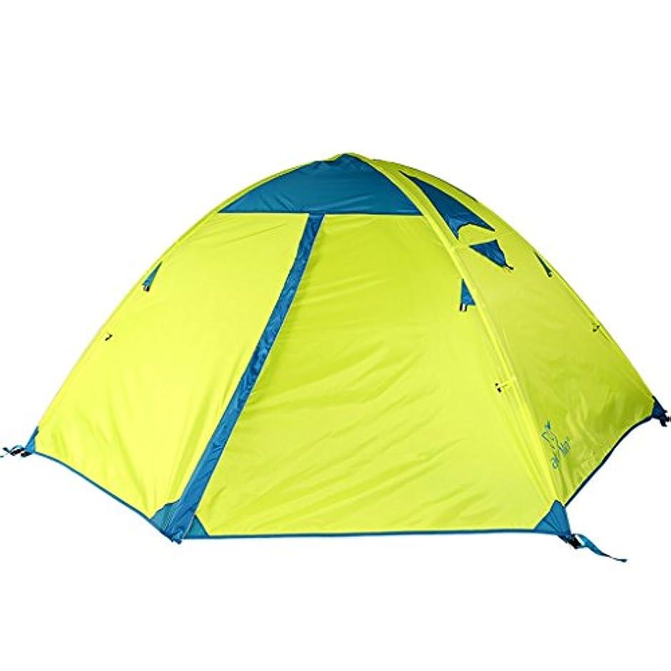 どちらもむしろ連結するRoscloud 屋外2人テントフィールドキャンプダブルレイヤー防水防風クライミング機器