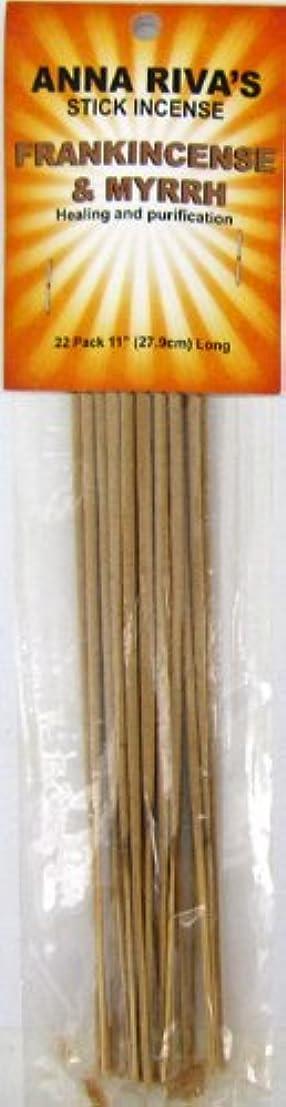 モノグラフ同僚ナイトスポットAnna Riva Stick Incense Frankincense and Myrrh
