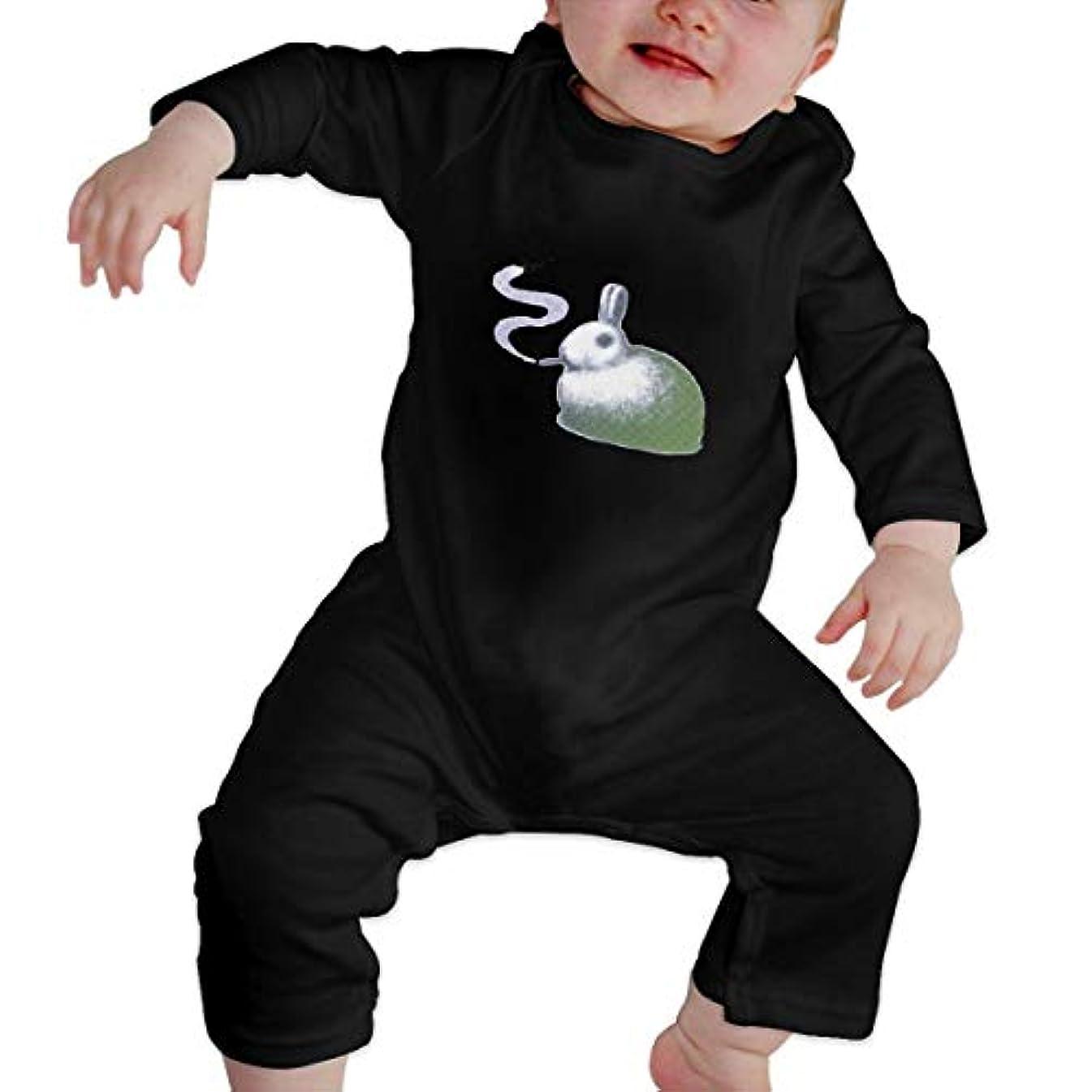 ブラストラリーブロッサム喫煙のウサギ 女の赤ちゃん女の赤ちゃん長袖ジャンプスーツコットンプリントラウンドネックソフト通気性ジャンプスーツ底入れ