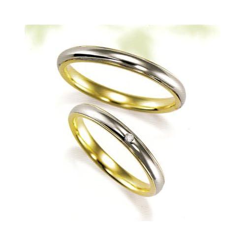 結婚指輪 マリッジリング プラチナ 2本セット ペアリング カップル ダイヤモンド リング 指輪 地金リング レディース リング プラチナ リング プラチナ Pt イエローゴールド YG