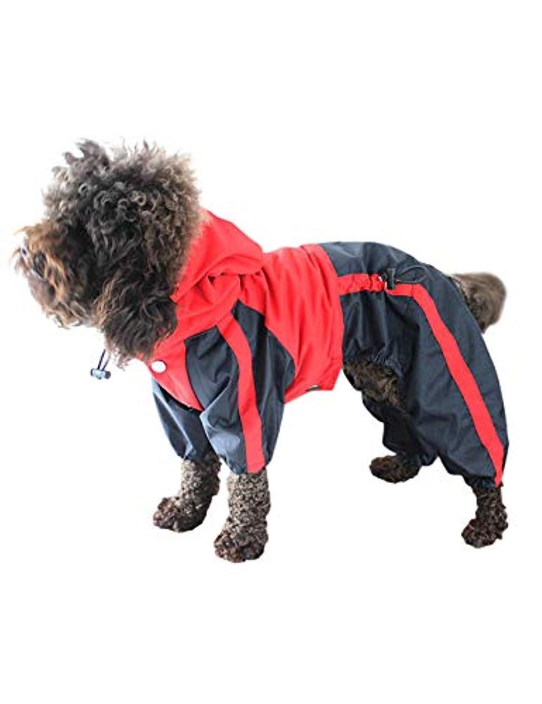 煙突農奴フラップStrong Water Resistant Dog Hooded Raincoat - Stylish Durable Pet Outfits Dog Rain Jacket with Harness Hole Zhhlaixing