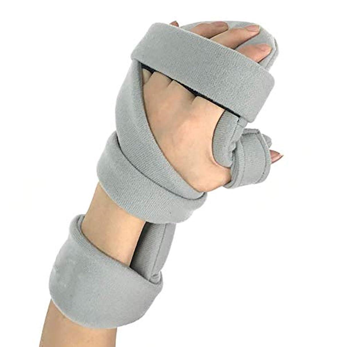 感謝するテキスト刺激するトリガー指副木、関節炎の手指副木用指トレーニングボード、手首の親指サポート手,RightHand
