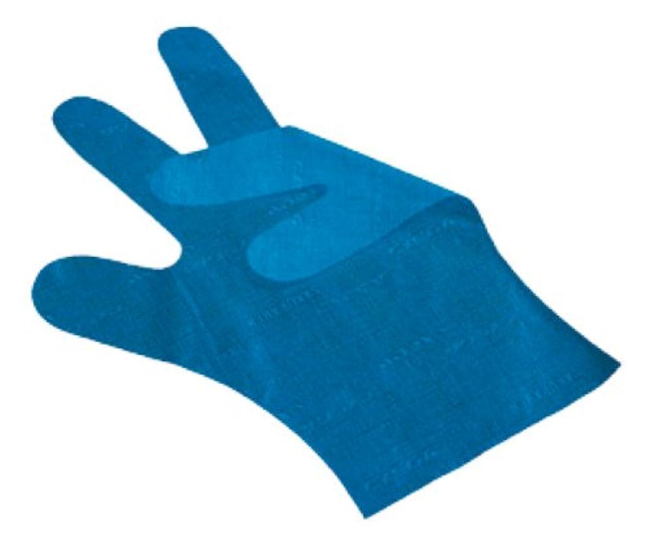 晩餐縞模様の放棄サクラメン手袋 デラックス(100枚入)M ブルー 35μ