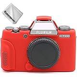 赤 富士フイルム Fujifilm X-T100 XT100 専用 TPUシリコンカメラバッグ カメラケース XJP-XT100-GJ-T08G11