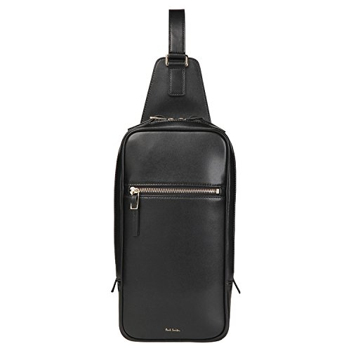 ポールスミス Paul Smith 正規品 シティエンボス レザー ボディバッグ ショップバッグ付き 本革 バッグ (ブラック)