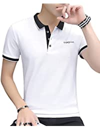 [meryueru(メリュエル)] 選べる 3タイプ カジュアル ポロシャツ 大人 スタイル お洒落 トップス 半袖 シャツ メンズ