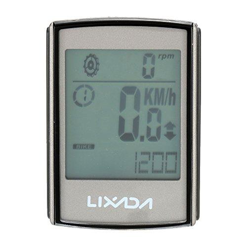 Lixada サイクルコンピューター 無線 多機能 防水仕様 心拍数 温度 チェストストラップ 消費カロリー記録でき