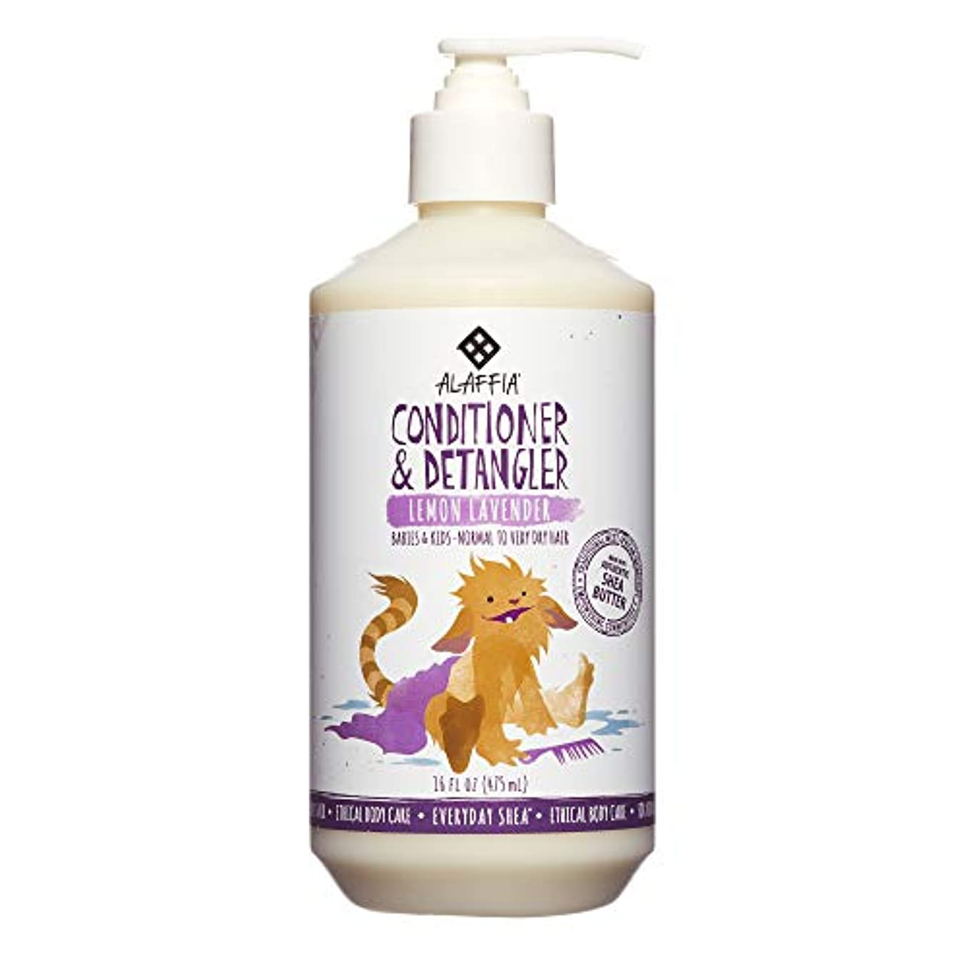 削減宿題をする所有者Everyday Shea, Conditioner & DeTangler, Lemon Lavender, 16 fl oz (475 ml)