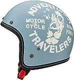 マルシン(MARUSHIN) バイクヘルメット ジェット MCJ3 レオ オープンジェット ナチュラル ブルー Mサイズ (57-58cm) 3005534