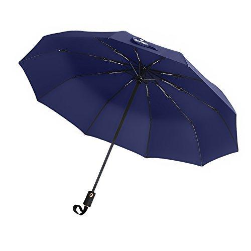 折りたたみ傘 父の日 自動開閉折り畳み傘 10本骨 晴雨兼用傘 梅雨対策 耐強風 撥水 軽量 携帯しやすい 収納ポーチ付き (直径102センチ)