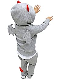 NSK デビル 変身 (ジップ パーカー 長袖 上下セット) ハロウィン 小悪魔 スウェット ジャージ 部屋着 遊び着 衣装 パジャマ キッズ ベビー 子供 男の子 女の子 ユニセックス セットアップ