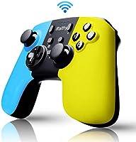 Switch コントローラー 「2020最新」Ralthy スイッチ コントローラー 無線 HD振動 小型6軸ジャイロセンサー搭載 Proコントローラー switch TURBO連射機能付き Bluetooth接続 付き日本語取扱説明(黄の青い)
