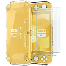 ProCase Nintendo Switch Lite Clear Case with Screen Protectors (2 Pack), Slim Soft Shockproof TPU Cover Anti-Scratch Protective Case for Nintendo Switch Lite 2019 -Clear