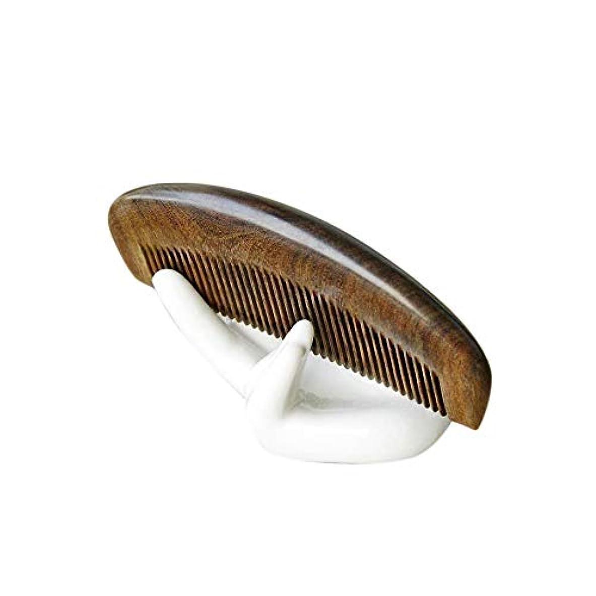 質素なつぶやきダムWASAIO ナチュラルサンダルウッドコーム-手作り木製ハーフムーンシェイプワイドトゥースカーリーヘアコーム手作り木製アンチスタティックマッサージエアバッグ (色 : Photo color)