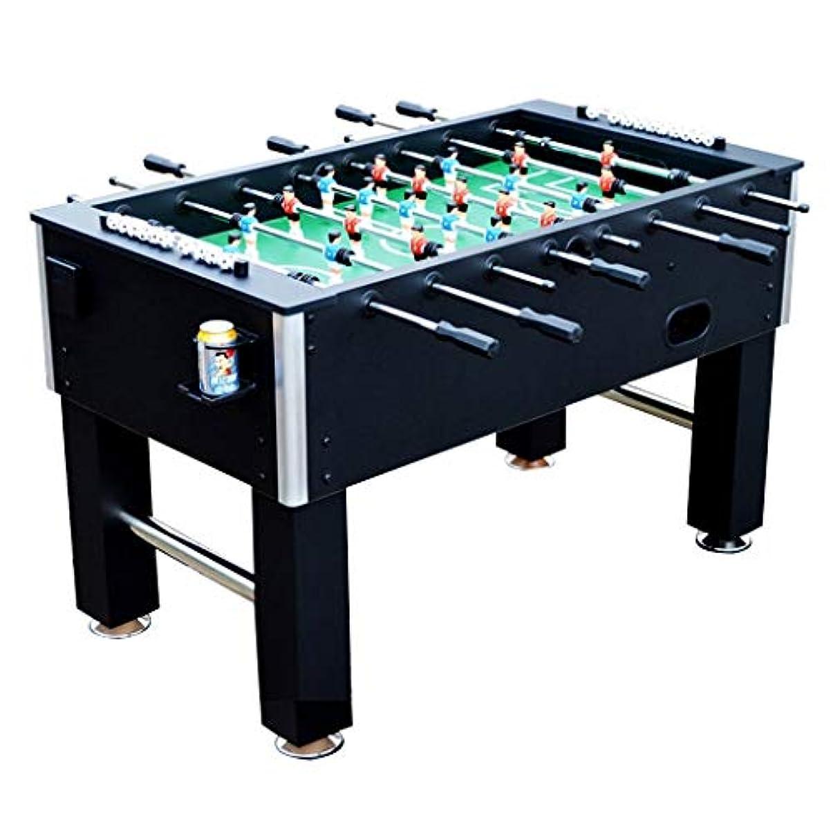 怖がって死ぬ純正スマート屋内ゲームテーブル黒大人子供の標準8テーブルサッカー機のおもちゃ大型サッカーテーブルギフトショッピングモールサッカー機140センチ (Color : BLACK, Size : 140*75*87CM)