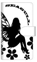 docomo Xperia Ace SO-02L 手帳型 スマホ ケース カバー 【ステッチタイプ】 YE863 フェアリー04 横開き