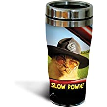 Tree-Free Greetings SG25871 Catnip Avanti Humor Slow it Down Sip 'N Go Stainless Steel Lined Travel Tumbler, 16-Ounce, Multicolored