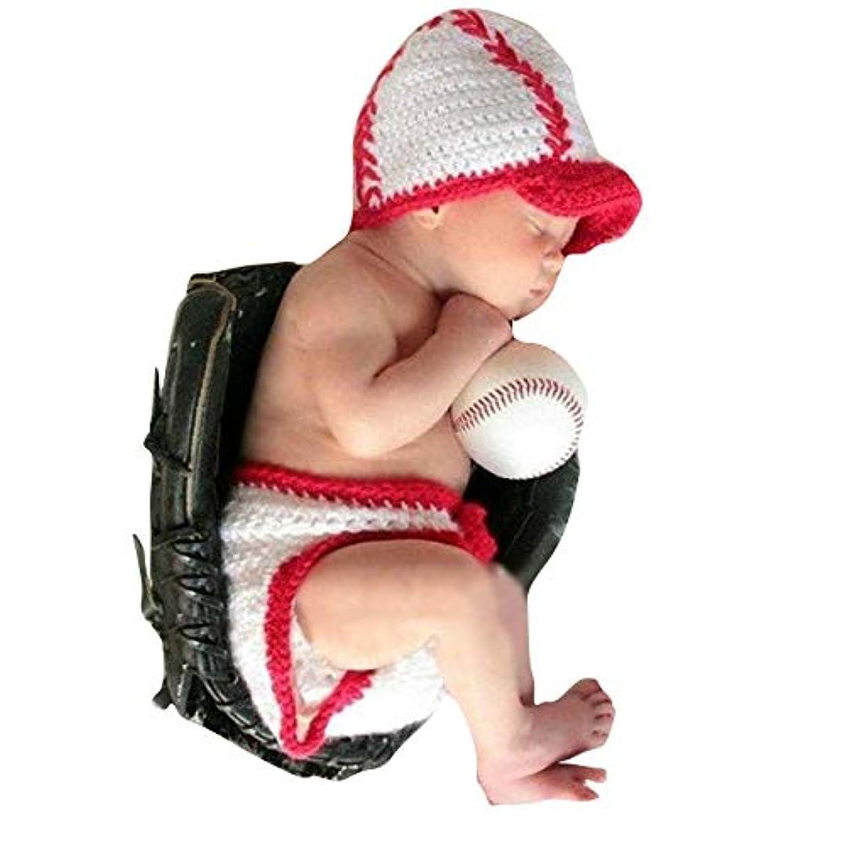 蒸し器クレタ間接的MISFIY ベビー服 新生児 赤ちゃん服 写真 誕生記念 出産祝い コスチューム 寝相アート 仮装 かわいい (野球)