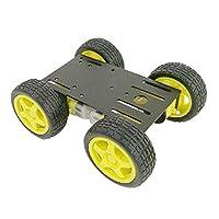 F Fityle 4WDロボット車シャーシキット TTモータ付き Arduino Un o R3用 スマートカーシャーシDIYキット