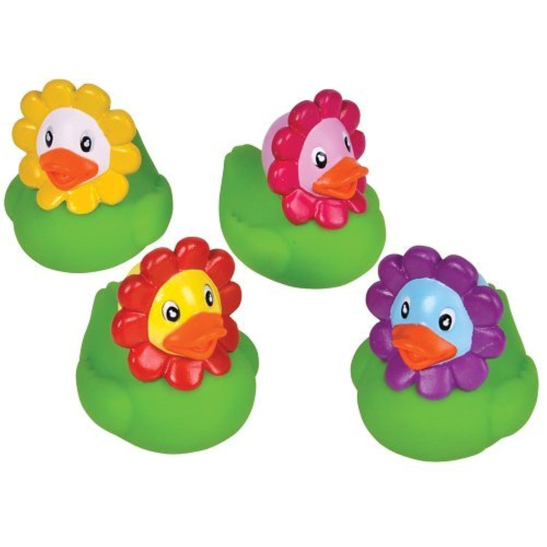 12 Flower Rubber Ducks by RINCO [並行輸入品]