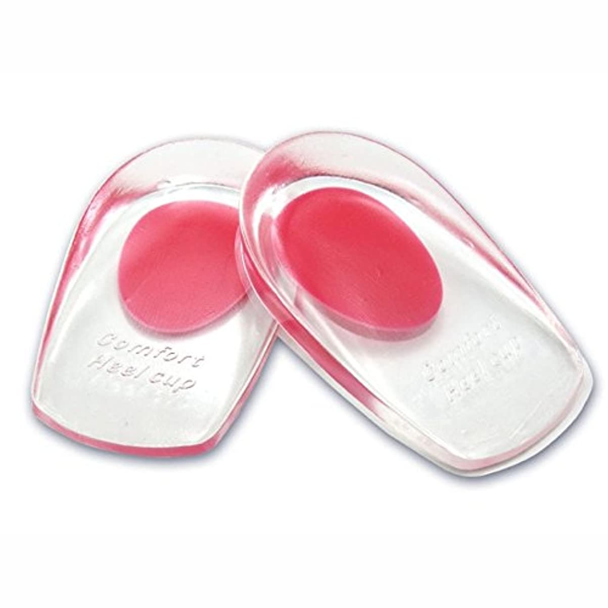 ことわざ征服者指導するシリコンヒールカップ かかとの痛み防止に ソフトシリコン製 インソールクッション 衝撃緩和 立体形状 フィット感抜群 FMTMXCA2S (レッド(靴サイズ22~26cm用))