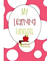 My Learning Notebook: Independent Learning Project Journal for Elementary Kids Grades 2-5: Big White Bubbles on Pink Cover