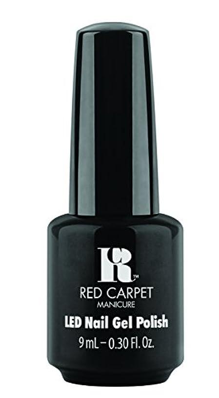 麻痺させるパドルシネマRed Carpet Manicure - LED Nail Gel Polish - Black Stretch Limo - 0.3oz / 9ml