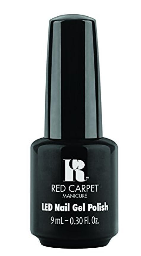 宿泊受信機土器Red Carpet Manicure - LED Nail Gel Polish - Black Stretch Limo - 0.3oz / 9ml