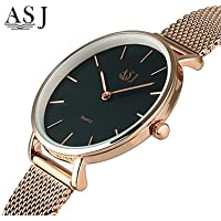 Women's Dress Watch Wrist Watch Japanese Quartz Cool Stainless Steel Band Analog Luxury Silver/Rose Gold - Black/Silver Rose Gold/White Black/Rose Gold One Year Battery Life/SSUO 377