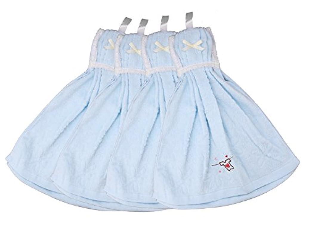 メドレーコーナービリードレスタオル Tシャツ 4枚セット ブルー MO-DT-T-B