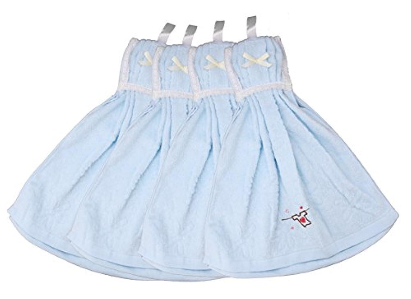 一般的に復活する主婦ドレスタオル Tシャツ 4枚セット ブルー MO-DT-T-B