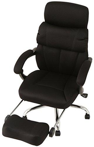 オフィスチェア 170度リクライニング ハイバック メッシュ ブラック