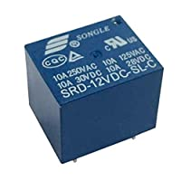 10個 PCBリレー SPDT 5ピンリレー SRD-12VDC-SL-C パワーリレー