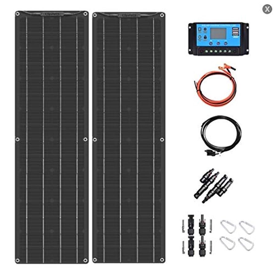 絶妙集中的なやさしくRV用18V 100Wブラック柔軟なソーラーパネル曲げ可能な柔軟なソーラー充電器太陽発電、ボート、キャビン、テント、車、トレーラー