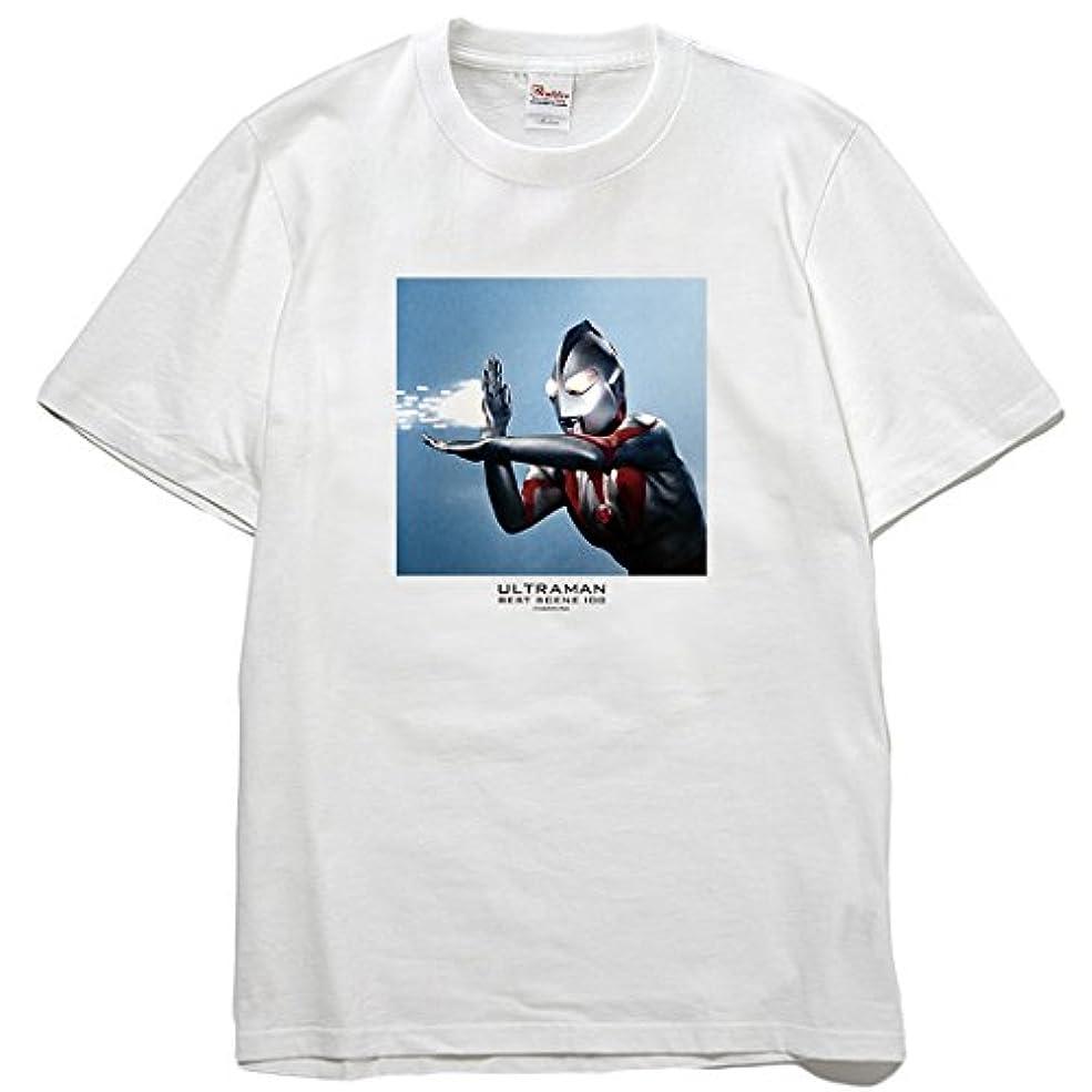 礼拝電気アブセイウルトラ百景 ウルトラマン Best Scene 100 アート Tシャツ スペシウム光線 9402