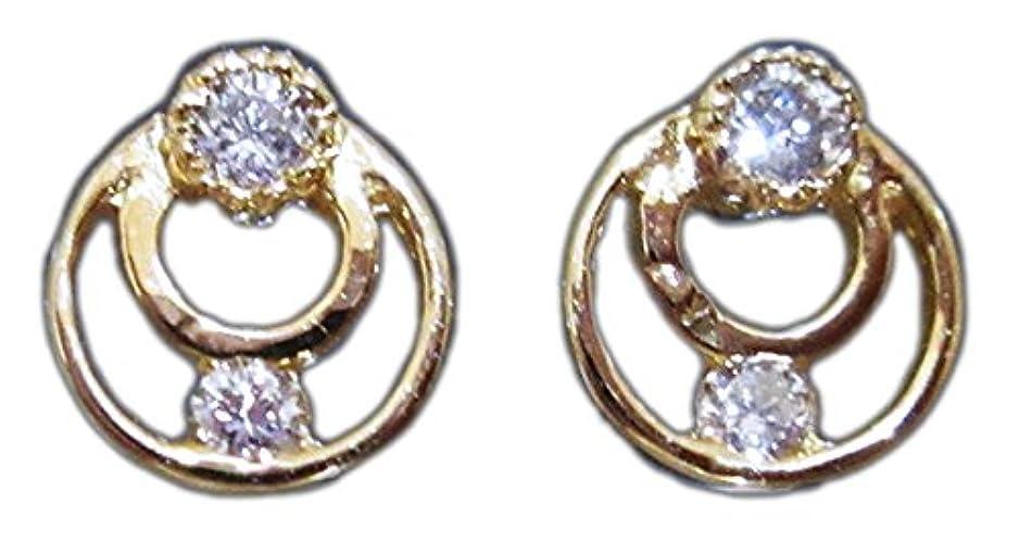プライム提案する爬虫類【アリーゴールド】Allie Gold 18金イエローゴールド(K18YG)天然ダイヤモンド0.07ct ラウンドサークル(輪) ピアス