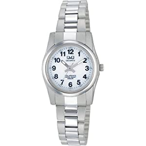 [シチズン キューアンドキュー]CITIZEN Q&Q 腕時計 SOLARMATE (ソーラーメイト) ソーラー電源 アナログ表示 5気圧防水 ホワイト H971-204 レディース