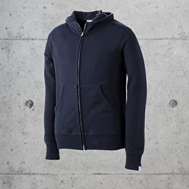 Loopwheeler Sweat Full-zip Hooded Parka: Marine